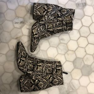 Patterned Sam Edelman ankle boots
